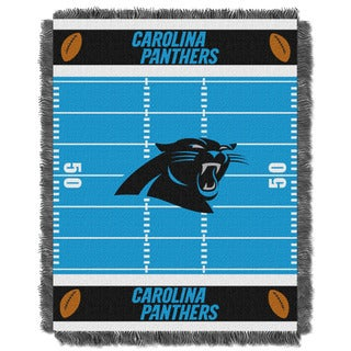 NFL 04401 Panthers Field Baby Throw