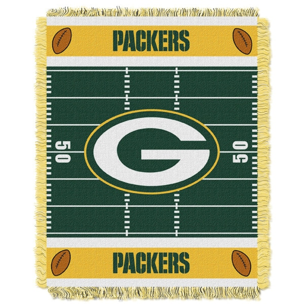 NFL 04401 Packers Field Baby Throw