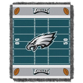 NFL 04401 Eagles Field Baby Throw
