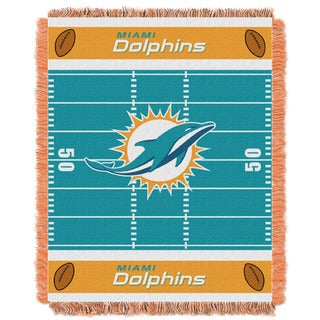 NFL 04401 Dolphins Field Baby Throw