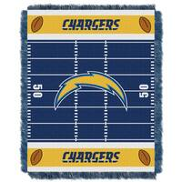 NFL 04401 Chargers Field Baby Throw