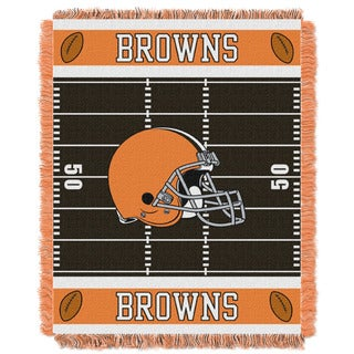NFL 04401 Browns Field Baby Throw