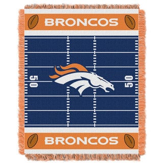 NFL 04401 Broncos Field Baby Throw