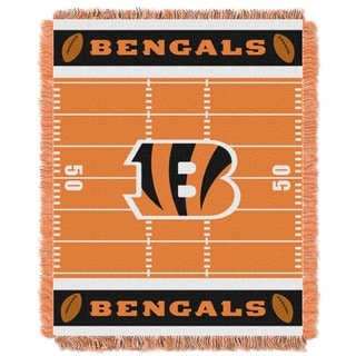 NFL 04401 Bengals Field Baby Throw