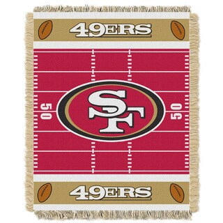 NFL 04401 49ers Field Baby Throw
