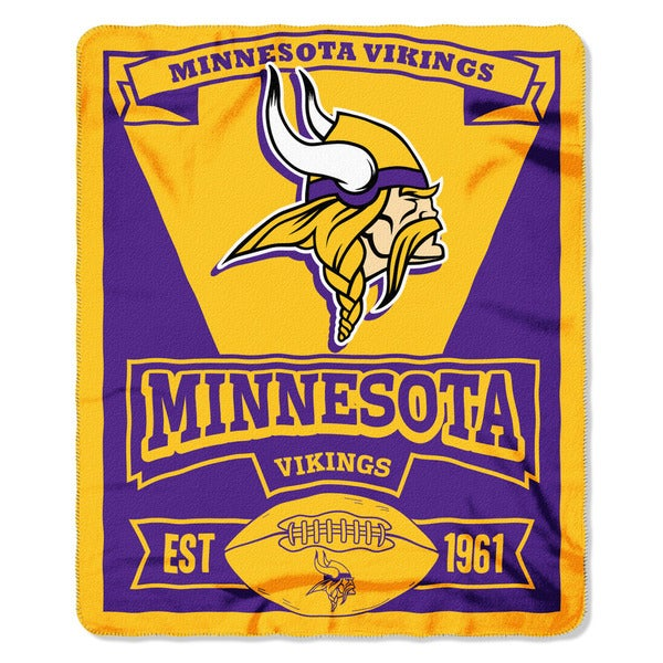NFL 031 Vikings Marque Fleece Throw