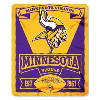 NFL 031 Vikings Marque Fleece Throw