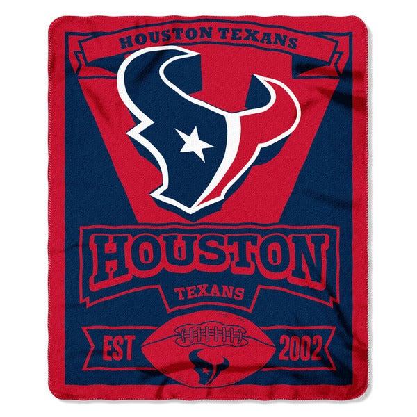 NFL 031 Texans Marque Fleece Throw