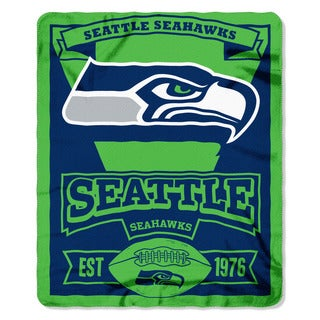 NFL 031 Seahawks Marque Fleece Throw