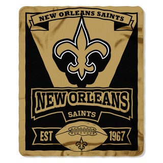 NFL 031 Saints Marque Fleece Throw