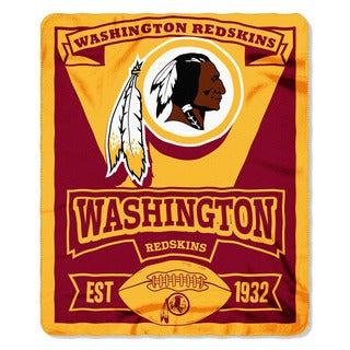NFL 031 Redskins Marque Fleece Throw