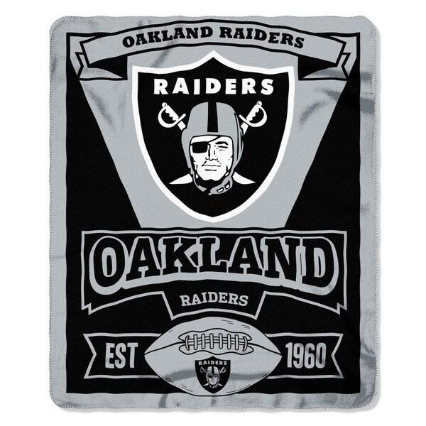 NFL 031 Raiders Marque Fleece Throw