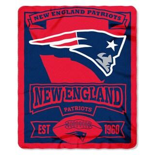 The Northwest Company NFL New England Patriots Marque Fleece Throw