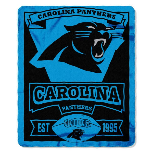 NFL 031 Panther Marque Fleece Throw