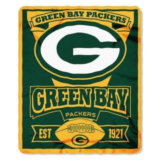 NFL 031 Packers Marque Fleece Throw
