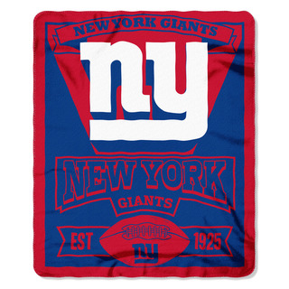 Shop Nfl 031 Ny Giants Marque Fleece Throw Free Shipping