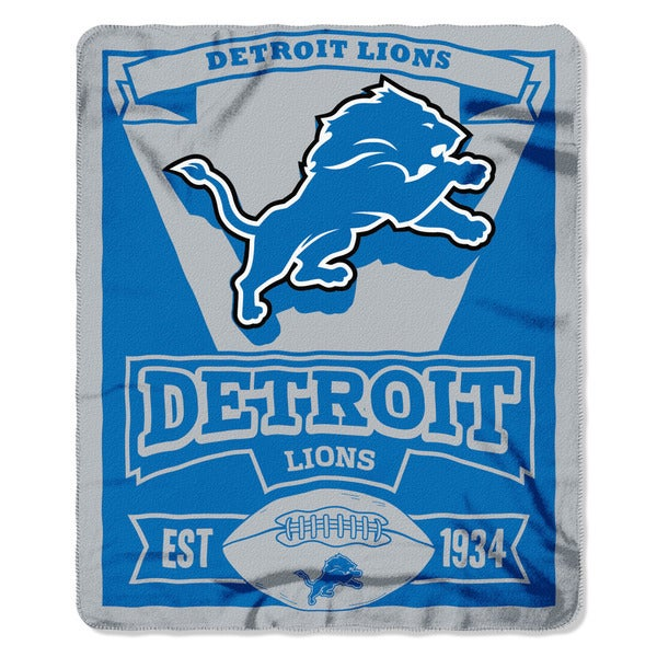 NFL 031 Lions Marque Fleece Throw