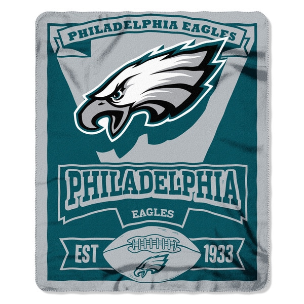 NFL 031 Eagles Marque Fleece Throw