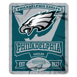 NFL 031 Eagles Marque Fleece Throw