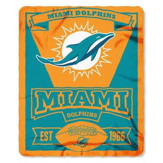 NFL 031 Dolphins Marque Fleece Throw