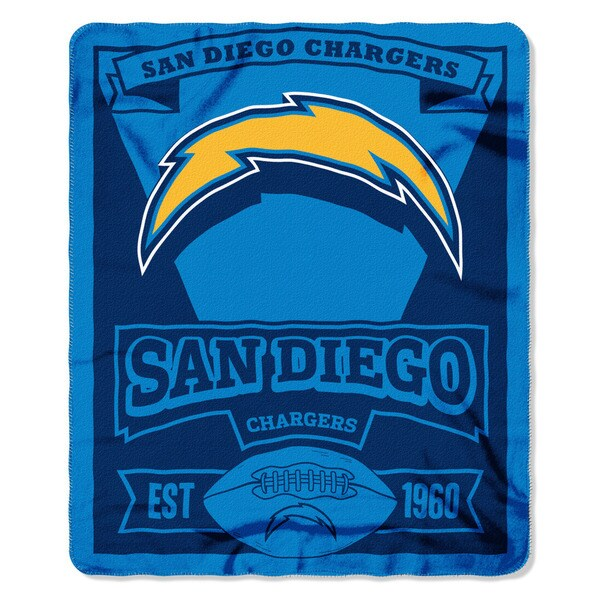 NFL 031 Chargers Marque Fleece Throw