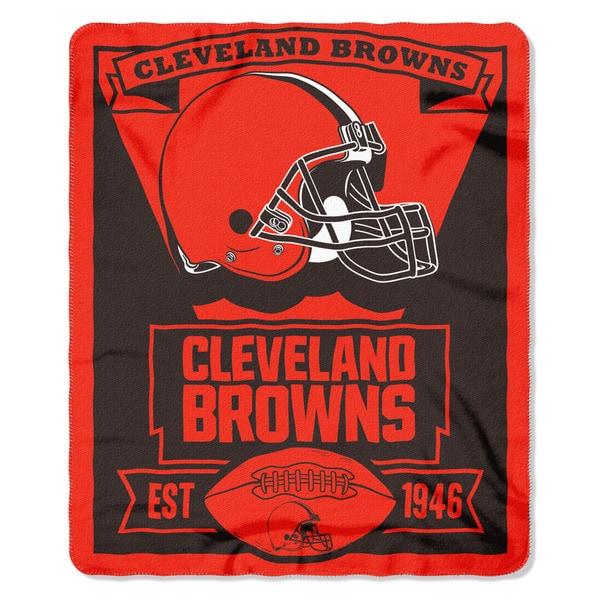 NFL 031 Browns Marque Fleece Throw