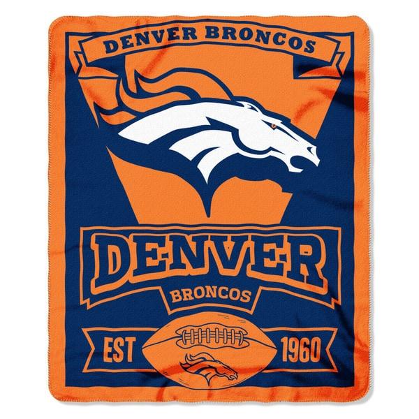 NFL 031 Broncos Marque Fleece Throw