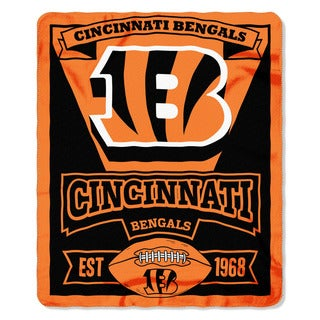 NFL 031 Bengals Marque Fleece Throw