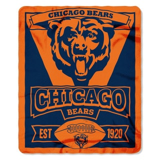 NFL 031 Bears Marque Fleece Throw