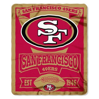 NFL 031 49ers Marque Fleece Throw