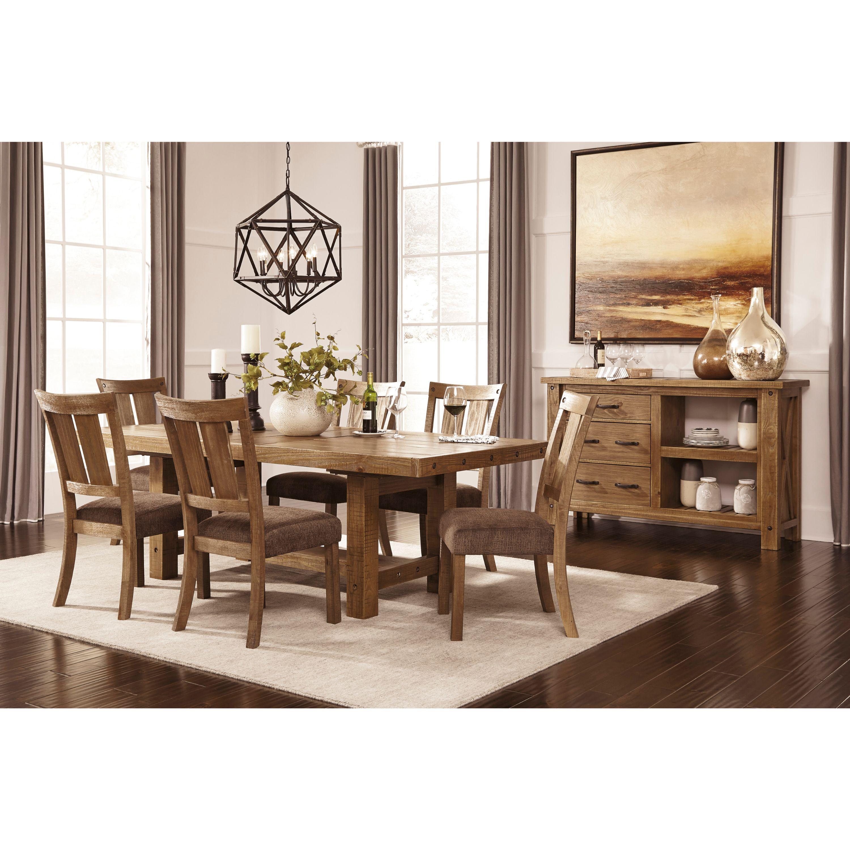 Ashley Tamilo Brown Dining Room Set (Set (6 chairs)), Siz...