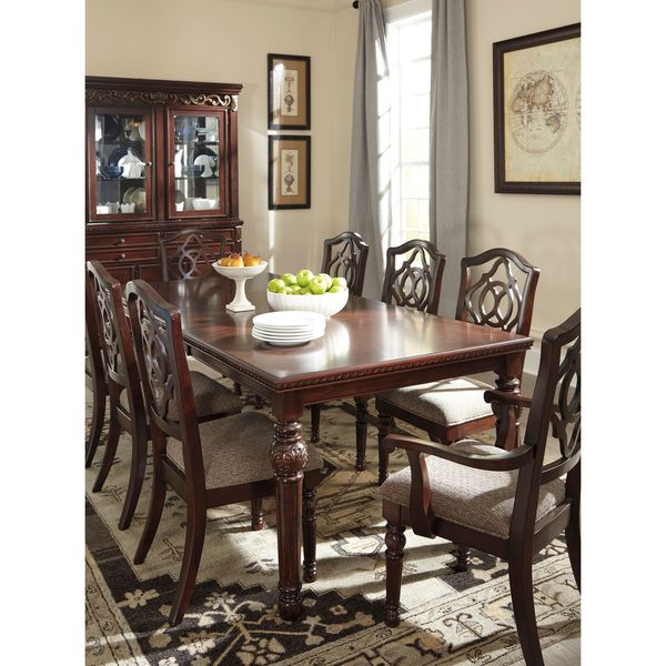 Brown Dining Room Table: Signature Design By Ashley Leahlyn Brown Dining Room Table