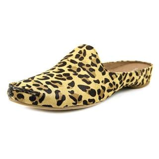 Donald J Pliner Women's Bobbi3 Tan Leopard Print Hair Calf Casual Shoes