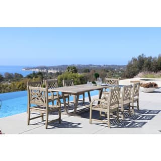 Renaissance Eco-friendly 9-piece Outdoor Hand-scraped Hardwood Dining Set with Rectangle Extension Table and Arm Chairs|https://ak1.ostkcdn.com/images/products/12089999/P18954413.jpg?impolicy=medium