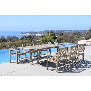 Havenside Home Surfside Eco-friendly 7-piece Hand-scraped Hardwood Dining Set
