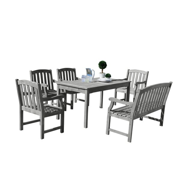 Surfside Eco-friendly 6-piece Hand-scraped Hardwood Dining Set by Havenside Home. Opens flyout.