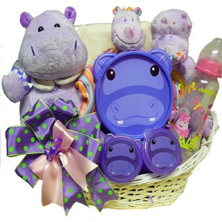 Happy Happy Hippo Baby Gift Basket