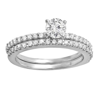 14k White Gold 1/2ct TDW Round Diamond Bridal Semi Mount Engagement Ring (H-I, I1-I2)