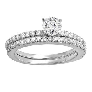 Elora 14k White Gold 1/2ct TDW Round Diamond Bridal Semi Mount Engagement Ring (H-I, I1-I2)