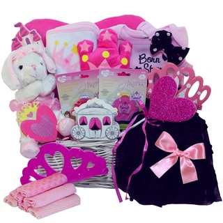 Little Princess Baby Girl Pink Gift Basket