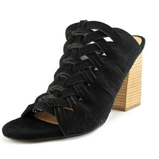 Belle Sigerson Morrison Women's Faline Black Leather Peep-toe Sandals