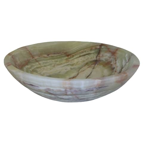Novatto Green Onyx Natural Stone Vessel Sink