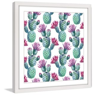 Marmont Hill 'Falling Cactus' Framed Painting Print