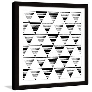 Marmont Hill 'Triangle Checkerboard' Framed Painting Print