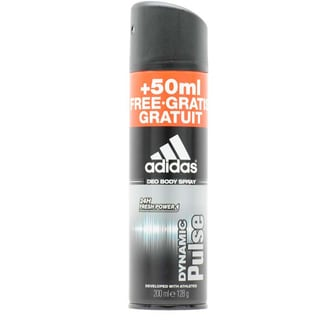 Adidas Dynamic Pulse 24-hour Fresh Power Men's Deodorant Body Spray
