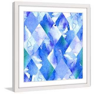 Marmont Hill 'Blue Morphism' Framed Painting Print
