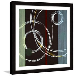 Marmont Hill 'Circle Swirl' Framed Painting Print