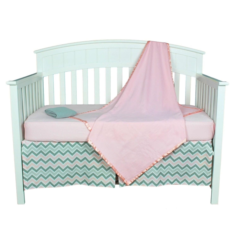 AMERICAN BABY COMPANY (ABC) Pink and Grey Zig Zag Chevron...