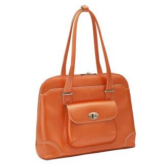 McKlein USA Avon Leather 15.6-inch Laptop Shoulder Handbag (Option: Orange)