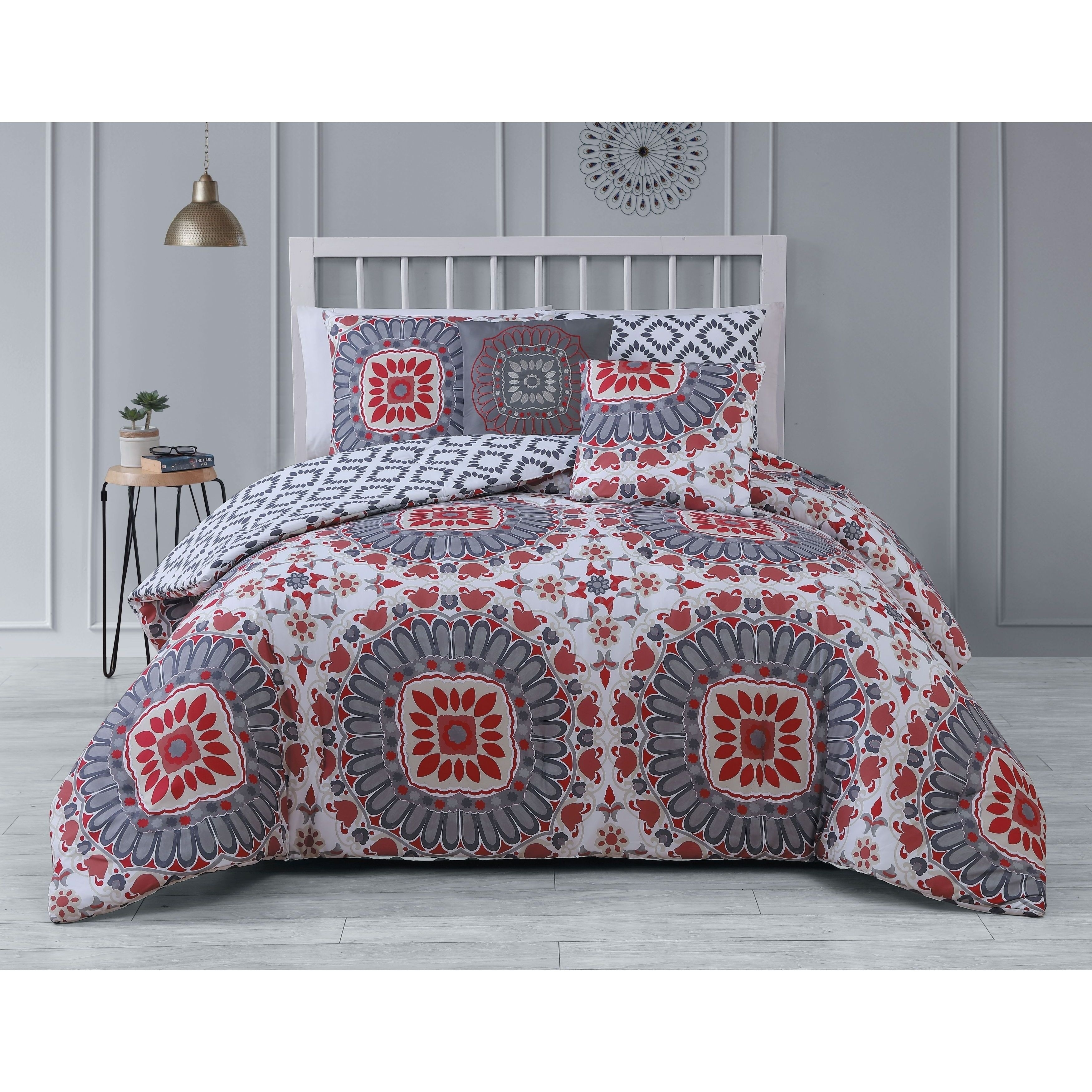 product bedding bath set free overstock home bed chic red bag a salisbury piece in com comforter